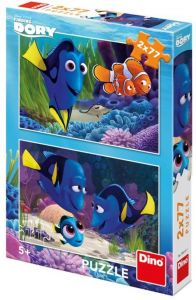 Puzzle Dino - Finding Dory, 2x77 piese (62904)
