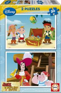 Puzzle Educa - Jake and the pirates of the Imaginary Country, 2x20 piese (15599)