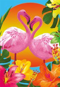 Puzzle Educa - Flamingos, 500 piese, include lipici puzzle (17737)