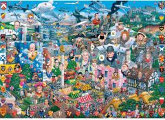 Puzzle Gibsons - I love Great Britain, 1.000 piese (3110)
