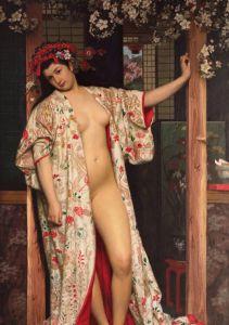 Puzzle Grafika - James Tissot: La japonaise au Bain, 1864, 1.000 piese (46214)