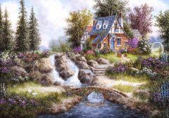 Puzzle Grafika - Dennis Lewan: Alpine Falls, 1.000 piese (02486)