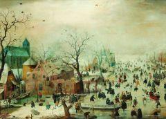 Puzzle PuzzelMan - Hendrick Avercamp: Collection Rijksmuseum Amsterdam - Winter, 210 piese mini (43155)