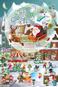 Puzzle SunsOut - Legacy Tree: A Christmas Village for All Ages, 625 piese (63994)