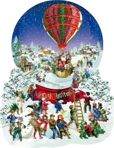 Puzzle contur Sunsout - Barbara Behr : Old Fashioned Snow Globe, 1.000 piese XXL (96087)