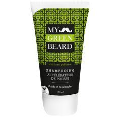 Sampon pentru accelerarea cresterii barbii si mustatei, Beard Growth Accelerator Shampoo, My Green Beard 150m