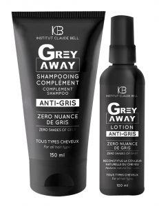 Set Grey Away - Lotiune si Sampon refacere culoare naturala par alb Institut Claude Bell