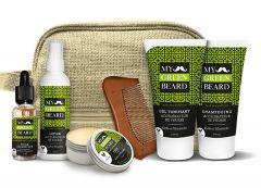 Trusa accelerare crestere barba si mustata, Beard Growth Accelerator Kit, My Green Beard