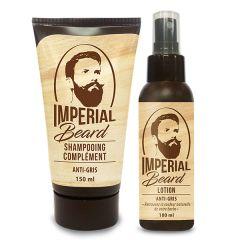 Set refacere culoare naturala barba grizonata Anti Gris Barbe, Imperial Beard