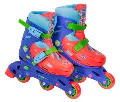 Role pentru copii cu 3 roti Saica 2942 Eroi in Pijamale Pj Mask marime reglabila 28-31 roti interschimbabile frana de picior