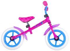 Bicicleta Volare copii 12 inch, fara pedale, 85% asamblata, Shimmer and Shine