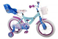 "Bicicleta copii Volare Frozen cu roti ajutatoare 14"" inch"