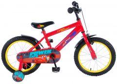 Bicicleta copii Volare Cars 3, pentru baieti, 16 inch, cu roti ajutatoare, reglabila, 85% asamblata