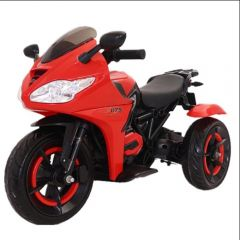 Motocicleta pentru copii cu acumulator, lumini, sunete, rosie
