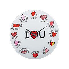 Ceas de perete I Love You, 60 cm