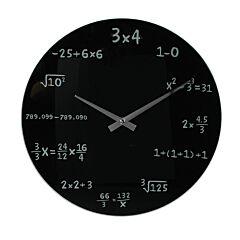Ceas de perete Mathematics, negru, 35 cm