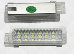 Lampi LED Portiere si Interior BMW F01, F20, F30 Lumina Alba