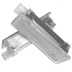 Lampi LED Portiere si Interior BMW Lumina Alba
