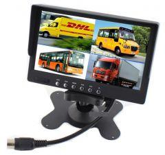 Display auto de 7″ cu 4 canale, 12V – 24V, D710 cu telecomanda