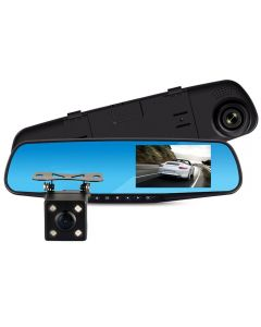"Camera auto DVR in oglinda retrovizoare cu camera dubla ,FULL HD 1080, Ecran LCD de 4.3 "" Night Vision, Foto, Playback, Senzor G"