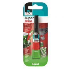 BISON Super Glue Adeziv cianoacrilat lichid, mastercard 12x3g