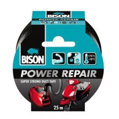 BISON Power Repair Bandă adezivă texturată, 50mmx25m negru