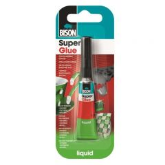 BISON Super Glue Adeziv cianoacrilat lichid, mastercard 12x3g 1buc