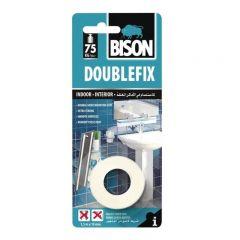 BISON Double Fix Bandă dublu adezivă, 1,5mx19mm