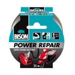 BISON Power Repair Bandă adezivă texturată, 50mmx25m gri