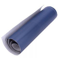 Folie carbon 3D Albastru 1,27 x 2m