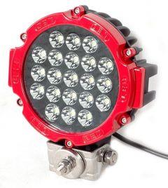 Proiector LED Auto Offroad 63W/12V-24V, 4410 Lumeni, Rosu, Spot Beam 30 Grade