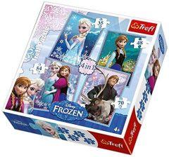 Puzzle Trefl Frozen 4 in 1