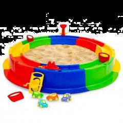 Cutie de nisip XXL Wader cu accesorii