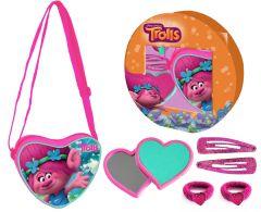Geanta de umar Coriex Printesa Poppy Trolls - Trolii Hearts cu accesorii de par