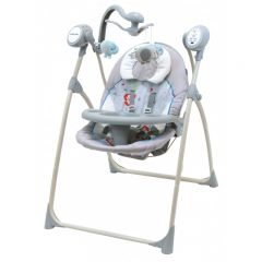 Leagan Electric Baby Mix cu muzica SW102 Grey-Cream