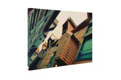 Case din lemn - Tablou Canvas - 4Decor