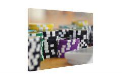 Jetoane poker - Tablou Canvas - 4Decor