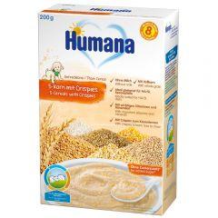 Cereale Humana fara lapte cu 5 cereale crocante de la 8 luni 200 g