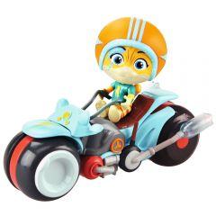 Motocicleta Smoby 44 Cats cu figurina Lampo 7,7 cm
