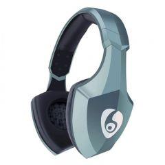 Casti bluetooth 4.1 cu microfon incorporat, card SD, radio FM, raza actiune 10m, turcoaz, Ovleng