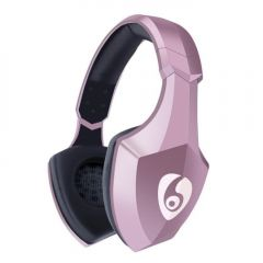 Casti bluetooth 4.1 cu microfon incorporat, card SD, radio FM, raza actiune 10m, roz, Ovleng