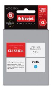 Cartus compatibil CLI-551C cyan pentru Canon, 15 ml, Premium Activejet, Garantie 5 ani