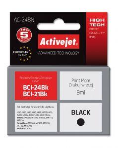 Cartus compatibil BCI 24B negru pentru Canon, 9 ml, Premium Activejet, Garantie 5 ani