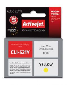 Cartus compatibil CLI-521 Yellow pentru Canon, 10 ml, Premium Activejet, Garantie 5 ani