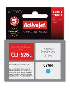 Cartus compatibil Canon CLI-526C Cyan, 10 ml, Premium Activejet, Garantie 5 ani