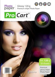 Hartie foto format A4 High Glossy 120g, top 20 coli