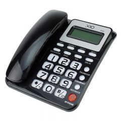 Telefon FIX, OHO, ID apelant, FSK/DTMF, calculator, calendar, memorie, LCD, negru