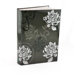 Album foto Black&White Flowers, 10x15, 300 fotografii, buzunare slip-in, gri antracit