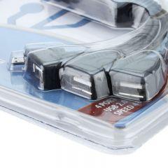 Hub USB 2.0 cu 4 porturi, 1 port microUSB, Esperanza