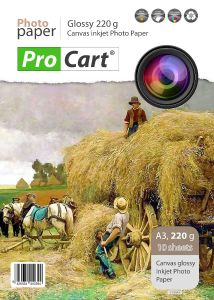Top 10 coli hartie FOTO canvas Glossy 220g, format A3